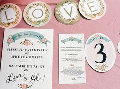 floral invitation set