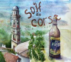 URBAN SKETCHERS FRANCE: Carnet de voyage de Calvi en Corse Ile D Aix, Cap Corse, Bonifacio, Corsica, Urban Sketchers, France, Vintage Posters, Art Sketches, Vacation