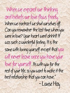 """Quote by Louise Hay. I LOVE HER!!! We've been listening to """"I Can Do It"""" for about 2 months now and are amazed by the results!"""