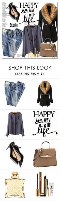 """Shein"" by oshint ❤ liked on Polyvore featuring WithChic, Hermès, Yves Saint Laurent, women's clothing, women, female, woman, misses and juniors"