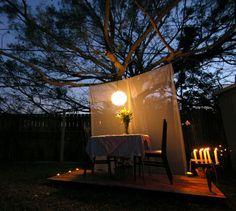 Backyard romantic dinner ;)