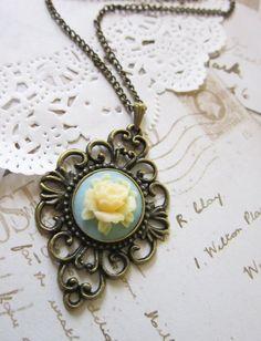 Edwardian Cameo Necklace Vintage Pendant by DubiousDesign on Etsy, £10.99