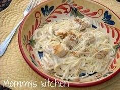 Mommy's Kitchen - Home Cooking & Family Friendly Recipes: Fettucini Alfredo with Grilled Chicken