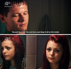 Skins Uk generation 2 / Cook and Emily Skins Generation 2, Effy And Freddie, Tv Quotes, Skins Quotes, Skins Uk, 2 Broke Girls, Series Movies, Tv Series, Boy Meets World