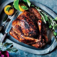 Moroccan-Spiced Turkey with Aromatic Orange Pan Jus | CookingLight.com