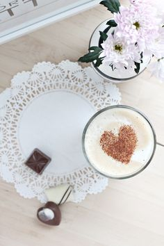 Show a latte love: make a heart stencil, then sprinkle cinnamon to make her morning coffee extra special.