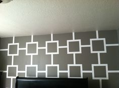 take tape off when paint is dry to the touch and tada u have a design - Paint Designs On Walls With Tape Ideas