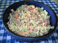 MACARONI GARDEN SALAD WITH HAM - The Southern Lady Cooks