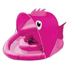 Aqua Leisure Girls' Fabric Covered Fun Fish Baby Float Pink