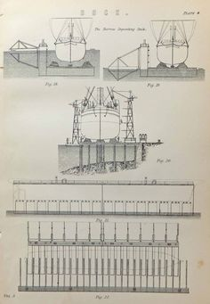 Docks, Four Prints, Liverpool Docks, London Docks, Barrow Depositing Dock, Iron Floating Dock, Black and White, Victorian Docks £22