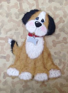 TEAR BEAR Puppy Dog paper piecing for scrapbook or card embellishment on Etsy, $10.00