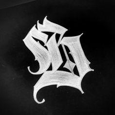 Second day of Tattoo Lettering Alphabet, Tattoo Lettering Styles, Calligraphy Tattoo, Calligraphy Letters, Graffiti Tattoo, Graffiti Lettering, Gothic Text, Small Symbol Tattoos, Tatto Love