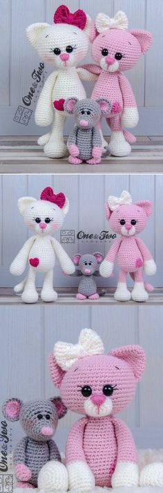 You will love these Amigurumi Cat Crochet Pattern Ideas that are perfect for beg. : You will love these Amigurumi Cat Crochet Pattern Ideas that are perfect for beginners! These cats are so simple to make and you'll love the video tutorial. Tutorial Amigurumi, Crochet Amigurumi, Amigurumi Patterns, Crochet Dolls, Tutorial Crochet, Amigurumi Doll, Scarf Tutorial, Crocheted Toys, Crochet Patterns For Beginners