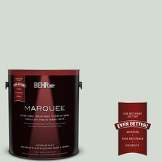BEHR MARQUEE 1-gal. #icc-95 Soothing Celadon Flat Exterior Paint