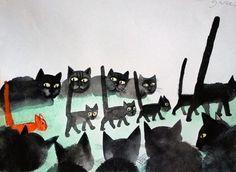 Józef Wilkon「Cats」