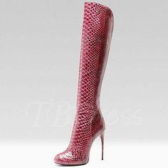 TBDress - TBDress Knee-High Side Zipper Pointed Toe Stiletto Heel Womens Boots - AdoreWe.com