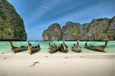 Maya Bay, Koh Phi Phi Thailand -- Easily one of the most beautiful places in the world. I loved it!