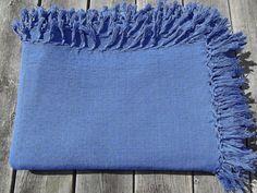 Cobalt/Dark Blue Cotton Swedish Vintage Tablecloth by Deccorista
