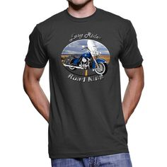 Our Harley Davidson Road King Easy Rider Men`s T-Shirt is the ultimate HOT gift for the Harley Davidson Road King fan! A must have for everyone.      Our Harley Davidson Road King Men`s T-Shirt is the softest, smoothest, best-looking short sleeve tee shirt available anywhere! It has fine Jersey (100% Cotton) construction, a durable rib neckband, and features the Easy Rider design.    All of our products are printed on demand in the United States, rather than being mass produced overseas…