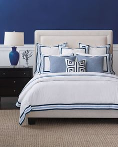 Eastern Accents Watermill Indigo Queen Duvet and Matching Items King Pillows, King Duvet, Queen Duvet, Duvet Cover Sizes, Duvet Covers, Eastern Accents, Luxury Bedding Collections, Duvet Sets, Bed Design