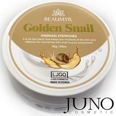 Patches for eyes Juno Beaumyr Golden Snail hydrogel pcs) made in KOREA Golden Snail, Beauty Stuff, Patches, Korea, Eyes, How To Make, South Korea, Korean, Cat Eyes