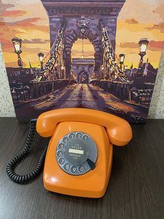 Vintage Orange phone,Old rotary phone,Soviet phone,Circle dial rotary phone,Vintage landline phone,Old Dial Desk Phone,Homephone,Retro phone Orange Phone, Rare Fish, Pay Attention To Me, Retro Phone, Vintage Phones, Watch Photo, Home Phone, Vintage Pocket Watch, Vintage Gifts