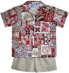 RJC Boys Hawaiian Symbol 2pc Set in Red  18 Months >>> Click image for more details.