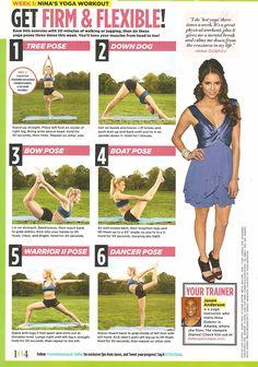 get firm + flexible: nina dobrev's yoga workout | seventeen magazine