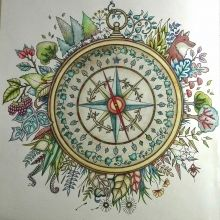 Johanna Basford Enchanted Forest Compass By Wendy