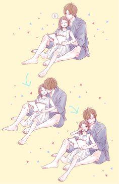 Manga Couple Too Kawaii (♥ω♥*) - Anime Couples Drawings, Anime Couples Manga, Anime Girls, Anime Couples Cuddling, Anime Couples Sleeping, Anime Couples Hugging, Romantic Anime Couples, Kawaii Anime, Chica Anime Manga