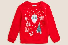 The Best Children's Christmas Jumpers UK 2021 Cute Christmas Jumpers, Christmas Jumper Day, Christmas Puns, Xmas Jumpers, Christmas Knitting, Kids Christmas, Childrens Christmas, Save The Children, Baby Party