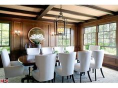 Dining room from the house Harrison Ford is trying to sell...