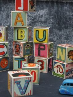 Wooden ABC Blocks with a twist.