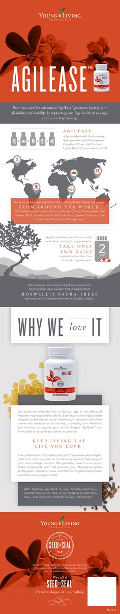 Why you need Agilease from Young Living.  Support a healthy lifestyle and get started today! I would love to help you!