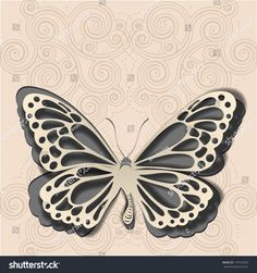 Pin on Silhouette - Cards Butterfly Template, Butterfly Crafts, Butterfly Wings, Paper Art, Paper Crafts, Traditional Japanese Art, Paper Butterflies, Scroll Saw, Kirigami