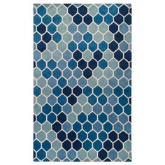 Paule Marrot Blue Tiled Rectangle Area Rug by Surya Pure Home Price: $859.00 Pure Home SALE Price: $837.40 5x8 Buzzing in Blue Contemporary and whimsical, Surya's Paule Marrot Blue Tiled Rectangle Area Rug is a geometric stunner in blue. It draws inspiration from the work of French textile artist Paule Marrot, who is known for her fresh and colorful two-dimensional motifs. On this trendy floor covering, a hip honeycomb pattern gets an unexpected makeover in spontaneous shades of blue.