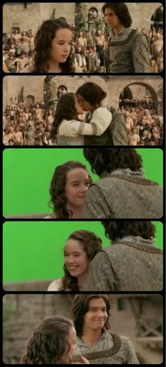 Prince Caspian Bloopers. I love how she just burst into laughter after their kiss, and Ben is just standing there awkwardly, getting all red, as if he's wondering what he did wrong. xD