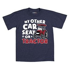 My Other Car Seat On A Tractor Case IH Cartoon Country Barn - Toddler T-Shirt