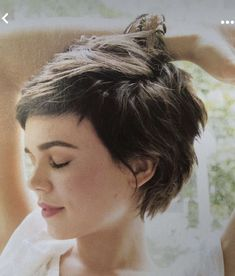 Pixie Hairstyles, Hairstyles With Bangs, Pretty Hairstyles, Pixie Haircuts, Curly Hair With Bangs, Short Hair Cuts, Curly Hair Styles, Great Hair, Hair Today