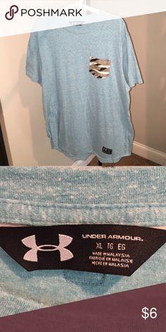 Light Aqua Under Armour T-Shirt XL w. Pocket Under Armour pocket Aqua t-shirt size xl Under Armour Tops Tees - Short Sleeve