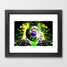football Brazil Framed Art Print by seb mcnulty - $32.00