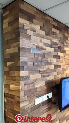 Wohnräume - Wohnzimmer - Echtholz - Wandpaneele Wodewa gallery - wall design impressions Your One Wooden Accent Wall, Wooden Wall Decor, Wooden Walls, Pallet Walls, Wood Wall Design, Feature Wall Design, Wall Panel Design, 3d Wall Panels, Home Interior Design