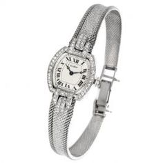 4949ebece Vintage Cartier Diamond White Gold Ladies Wrist Watch #vintagejewelry  #cartier #diamonds #womenswatach