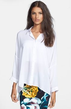 GLAMOROUS Oversized Chiffon Blouse available at #Nordstrom