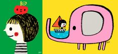 Flora Chang | Made in the Middle Funny Animal Videos, Funny Animals, Hours In A Day, New Things To Learn, Illustrations And Posters, Letterpress, How To Introduce Yourself, Flora, Illustration Art