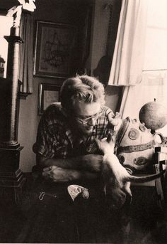 james dean and marcus (1955)    Marcus was a gift from Elizabeth Taylor. Its interesting to note that Dean was raised by his uncle Marcus Winslow and his cousin is also named Marcus.