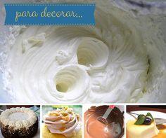 Cremas para rellenar o decorar Varias recetas que puedes usar para las cubiertas, rellenos o decoraciones de tus postres
