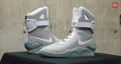 "Nike has confirmed it is releasing Marty McFly's self-lacing, light-up sneakers from ""Back to the Future"" to the public in Hypebeast, Nike Air Mag, Nike Shoes, Sneakers Nike, Light Up Sneakers, Marty Mcfly, Jordans Girls, Shoes 2015"