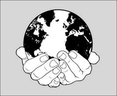 Hands Holding Earth Vector The world and the hands are