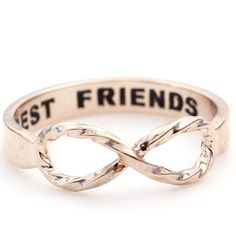 BEST FRIEND Infinity Ring in Rose gold AHHH!! WE NEED THIS NOW!! @Christy Sanchez